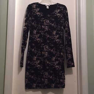H&M Basic Fitted Black with tan dress size Medium